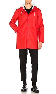 Stutterheim Stockholm Jacket in Red/Rod