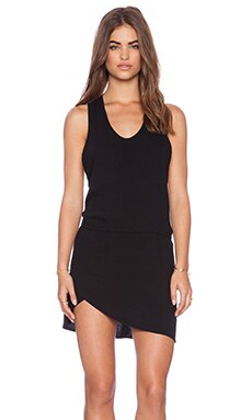 Stillwater The Scoop Neck Mini Dress in Black