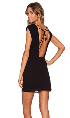 Stillwater The Web Back Mini Dress in Black