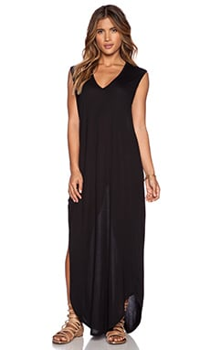 Stillwater The T-Shirt Maxi Dress in Black