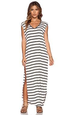 Stillwater The T-Shirt Maxi Dress in Black Stripe