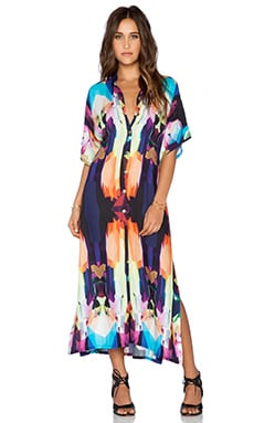 Stillwater The High Slit Shirt Dress in Crystal Prism