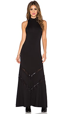 Stillwater The Victorian Maxi Dress in Black