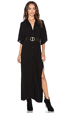 Stillwater The High Slit Shirt Dress in Black