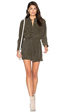 X Front Dress in Olive