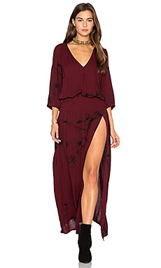 Wilder Dress in Garnet