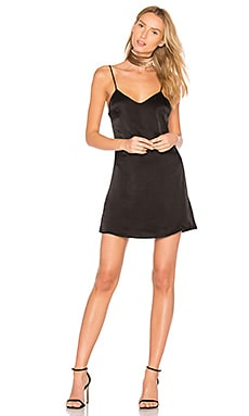 Slip Mini Dress in Black