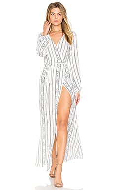 High Slit Wrap Dress