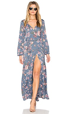 High Slit Wrap Dress in Country Strong