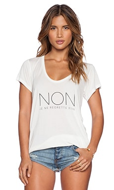 Stillwater The Scoop Neck Tee Non Regrette in Ivory