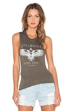 Stillwater The Stillwater Runs Deep Muscle Tank in Olive