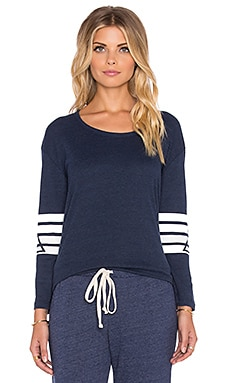 Stillwater Ruby Boheme Stripe Tee in Indigo