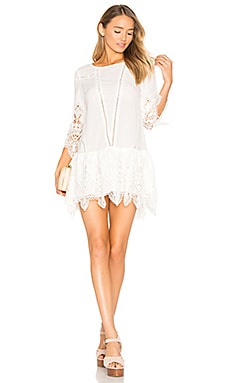 Prairie Mini Dress in White