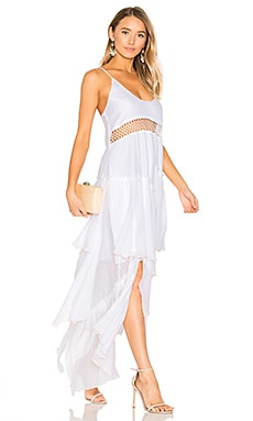 Closer Frill Maxi Dress in White