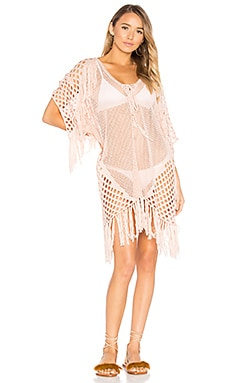New Romantics Fringe Caftan in Blush