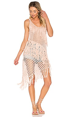 New Romantics Fringe Dress em Blush