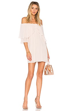 Perfect Day Off Shoulder Dress in Blush