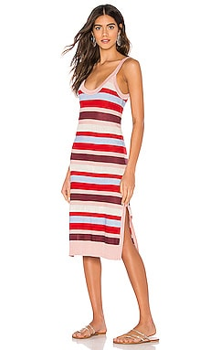 Midsummer Knitted Stripe Midi Dress Suboo $73