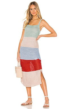 Lucy Knitted Wide Stripe Midi Dress Suboo $300 NEW ARRIVAL