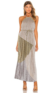 Luna Pleat Maxi Dress Suboo $380