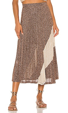 Tyra Pleat Panelled Skirt Suboo $143