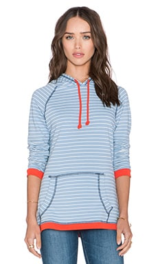 Sub_Urban RIOT Mariette Hoodie in Light Denim Stripes