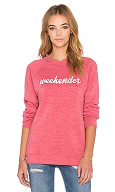 Sub_Urban RIOT Weekender Sweatshirt in Faded Red