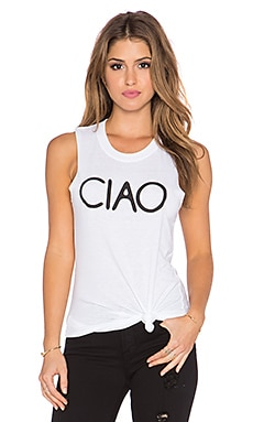 Sub_Urban RIOT Ciao Muscle Tank in White