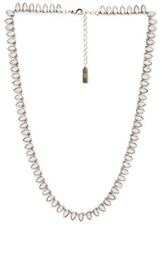 SunaharA Cleopatra Necklace in Silver & White Opal