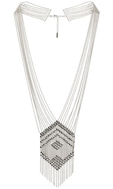 SunaharA Liquid Chandelier Necklace in Silver