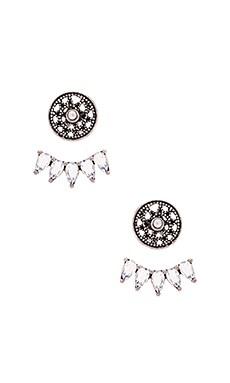 SunaharA Ra Earring in Silver & White Opal
