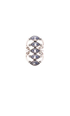 SunaharA Giza Ring in Silver & White Opal