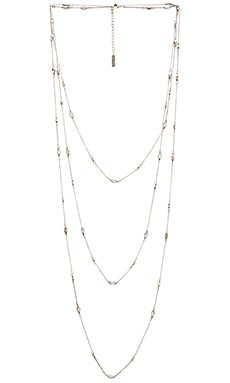 SunaharA Aphrodite Necklace in Silver & White Opal