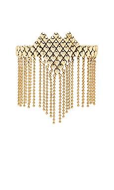 SunaharA Fringe Cuff Bracelet in Gold