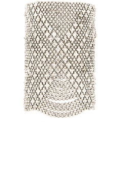 SunaharA Beaded Chain Cuff in Silver