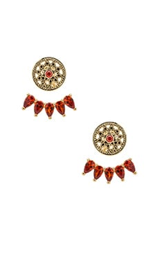 SunaharA RA Earring in Gold & Fire Opal