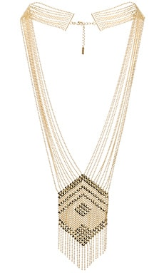 SunaharA Liquid Chandelier Necklace in Gold