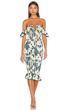 Bardot Midi Dress Sun Becomes Her $242 NEW ARRIVAL