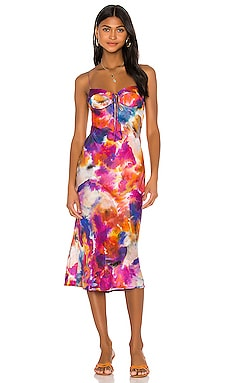 Corset Midi Dress Sun Becomes Her $198