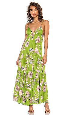 Solstice Trapeze Maxi Dress Sun Becomes Her $119