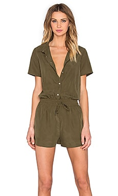 Tilda Button Up Romper in Khaki