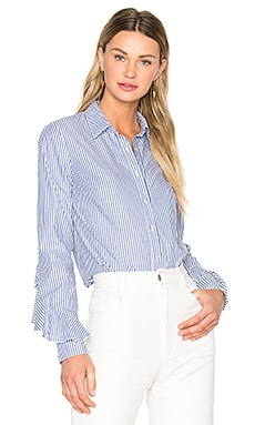 Ruffle Sleeve Button Down Shirt