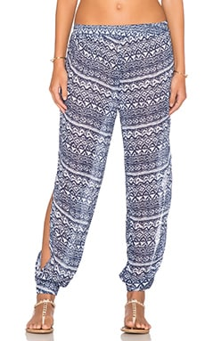 Surf Gypsy Beach Pants in Indigo & White