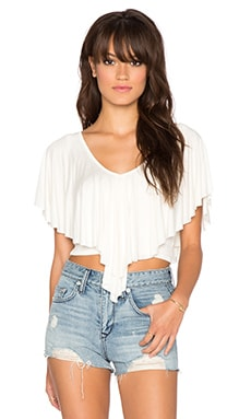 Surf Gypsy Flowy Crop Top in Ivory