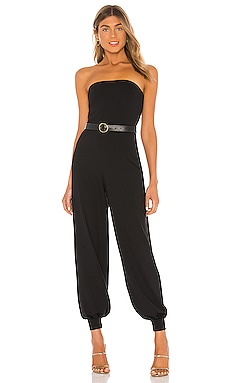 Strapless Cuffed Ankle Jumpsuit Susana Monaco $198