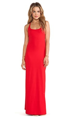Susana Monaco Racer Maxi Dress in Perfect Red