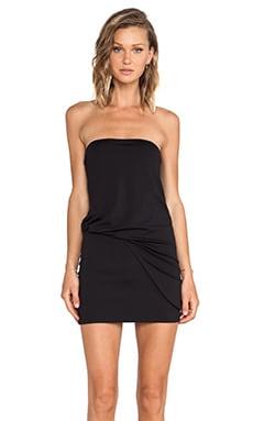 Susana Monaco Strapless Tube Tuck Dress in Black