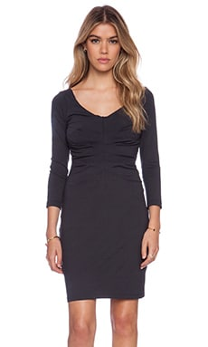 Susana Monaco Center Pleat Dress in Onyx