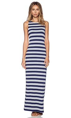 Susana Monaco Trudie Maxi Dress in Inkwell & Heather