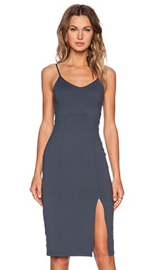 Susana Monaco Nicola Midi Dress in Charcoal